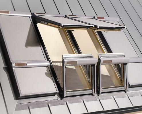 STOGO TERASOS, stoglangių sistemos, dviejų varčių langas, stogo balkonas, WExpert