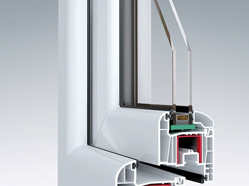 6 kamerų plastikinis langas, 80mm storio profilis, lango profilio pjūvis, OVLO, WExpert